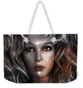 Surreal Female Fashion Mannequin Portrait Art Deco Weekender Tote Bag