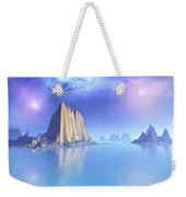 Beautiful Night Scene Of The Ocean Weekender Tote Bag