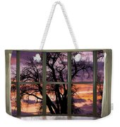Beautiful Sunset Bay Window View Weekender Tote Bag