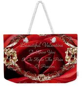 Beautiful Valentine Weekender Tote Bag