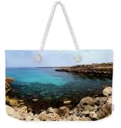 Beautiful View On Mediterranean Sea Cape Gkreko In Cyprus Weekender Tote Bag