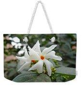 Beautiful White Flower With Orange Center Weekender Tote Bag
