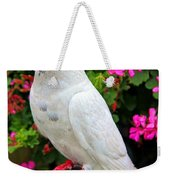 Beautiful White Pigeon Weekender Tote Bag