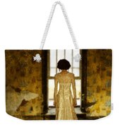 Beautiful Woman In Lace Gown In Abandoned Room Weekender Tote Bag