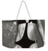 Beautiful Woman With Soiled Body Wearing A Swimsuit Weekender Tote Bag