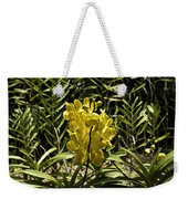 Beautiful Yellow Flowers Inside The National Orchid Garden In Si Weekender Tote Bag