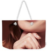 Beautiful Young Smiling Woman Mouth Weekender Tote Bag