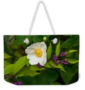 Beautyberry And Anemone 2 Weekender Tote Bag