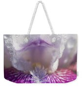 Bedazzled Purple And White Iris Weekender Tote Bag