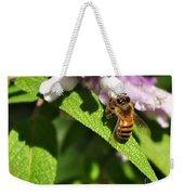 Bee At Work Weekender Tote Bag by Kaye Menner