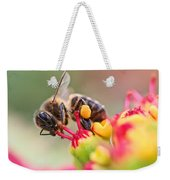 Bee At Work Weekender Tote Bag