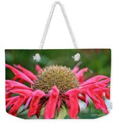 Bee Balm Button Weekender Tote Bag