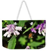 Bee In Flight Weekender Tote Bag by Kaye Menner