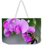 Bee In The Pink - Greeting Card Weekender Tote Bag