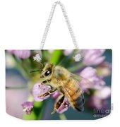 Bee On A Flower Weekender Tote Bag