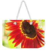 Bee On A Sunflower Weekender Tote Bag