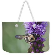 Bee On Gayfeather Squared 2 Weekender Tote Bag