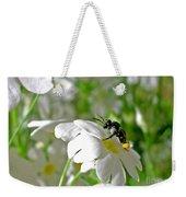 Bee On Primrose Weekender Tote Bag