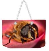 Bee On Rose Petal Weekender Tote Bag