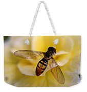 Bee On Yellow Flower Weekender Tote Bag