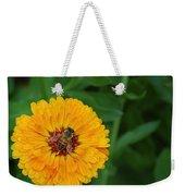 Bee On Yellow Flower Weekender Tote Bag
