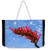 Bee With Red Flower 1 Weekender Tote Bag