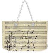 Beethoven Manuscript, 1799 Weekender Tote Bag by Granger