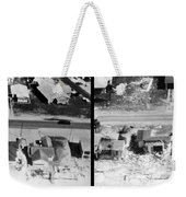 Before And After Hurricane Eloise 1975 Weekender Tote Bag by Science Source