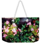 Begonias By Stone Wall Weekender Tote Bag