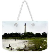 Behind The Cape May Lighthouse Weekender Tote Bag by Bill Cannon