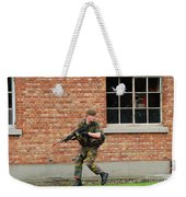 Belgian Infantrists Under Attack Weekender Tote Bag by Luc De Jaeger