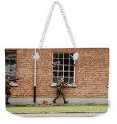 Belgian Soldiers On Patrol Weekender Tote Bag