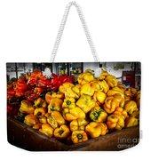 Bell Peppers Weekender Tote Bag by Robert Bales