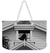 Bell Tower In Black And White Weekender Tote Bag