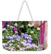 Belle In The Garden Weekender Tote Bag by Angelina Vick