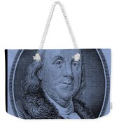 Ben Franklin In Cyan Weekender Tote Bag