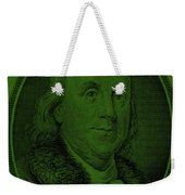 Ben Franklin In Dark Green Weekender Tote Bag