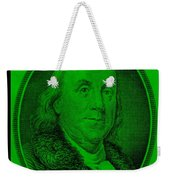 Ben Franklin In Green Weekender Tote Bag