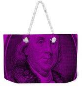 Ben Franklin In Purple Weekender Tote Bag