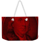 Ben Franklin In Red Weekender Tote Bag