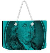 Ben Franklin In Turquois Weekender Tote Bag