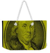 Ben Franklin In Yellow Weekender Tote Bag