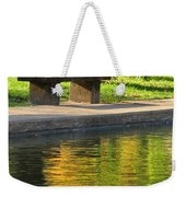 Bench And Reflections In Tower Grove Park Weekender Tote Bag