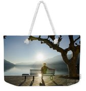 Bench And Sunset Weekender Tote Bag