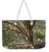 Bench And Tree In Cambria II Weekender Tote Bag