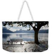 Bench And Tree On The Lakefront Weekender Tote Bag