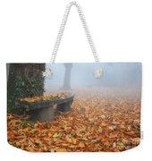 Bench In The Fog Weekender Tote Bag