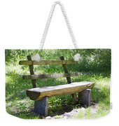 Bench Made Of Wood Weekender Tote Bag