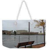 Bench With Industrial View Weekender Tote Bag