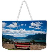 Bench With Panorama View Weekender Tote Bag